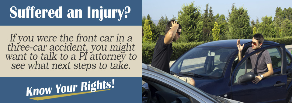 Filing a Claim if You Are the Front Car in a Three-Car Accident