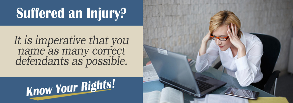 Wondering how to name the defendant in a personal injury case?