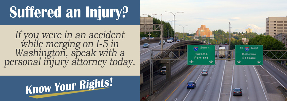 Hit While Merging on Interstate-5 in Washington State