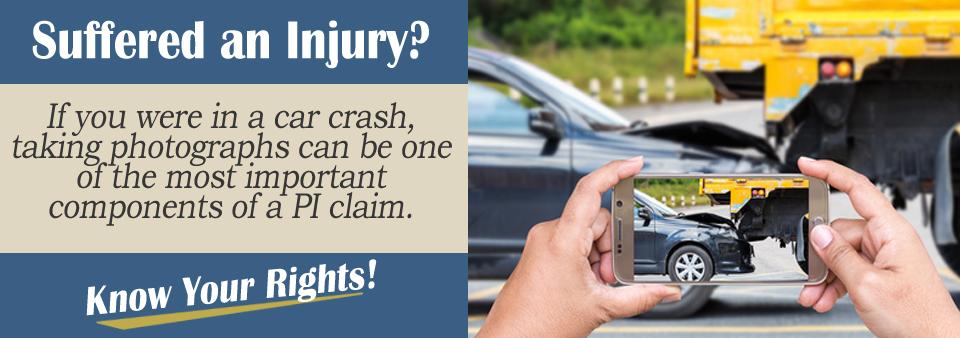 You need to take photos of a crash!