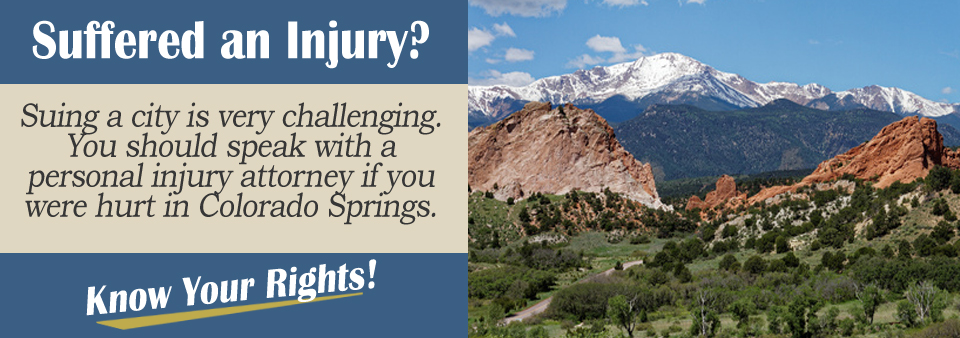 How To File A Personal Injury Claim Against Colorado Springs