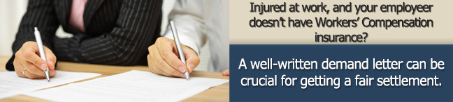 Sample Demand Letter Workplace Injury No Workers Compensation