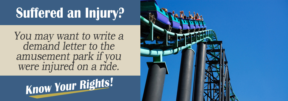 roller coaster demand letter personal injury lawyer