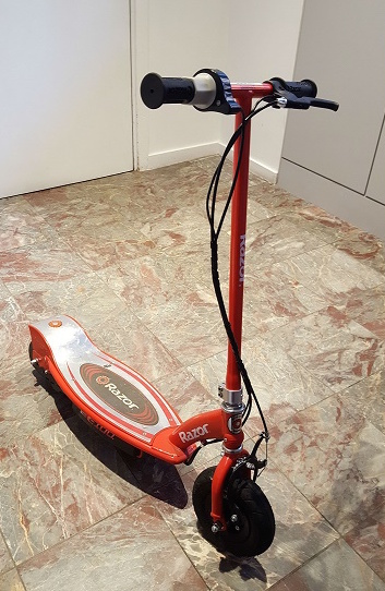 Riding an electric scooter