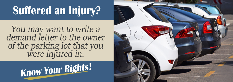 parking lot personal injury demand letter