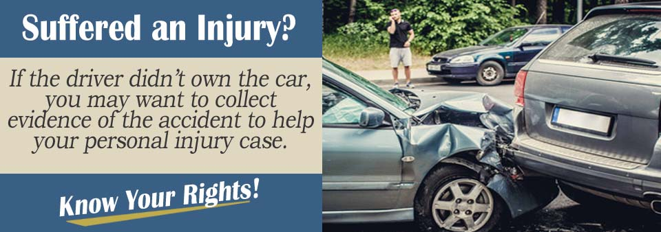 Documenting Accident Owner Not Driving Personal Injury Lawyer
